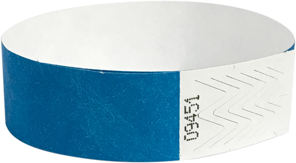 "A 3/4"" Tyvek® litter free solid Light Blue wristband"