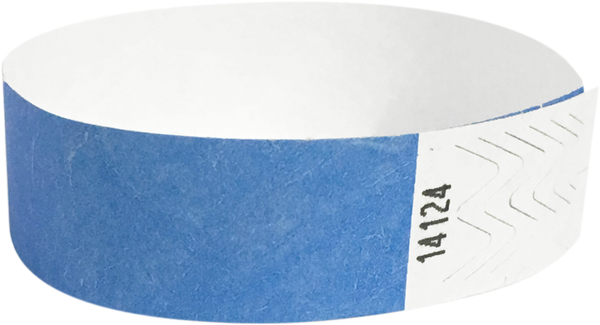 "A Tyvek® 3/4"" solid Sky Blue wristband"