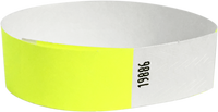 "A Tyvek® 3/4"" solid Yellow Glow wristband"