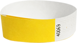 "A Tyvek® 3/4"" solid Yellow wristband"