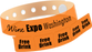 "Custom Vinyl 1 1/4"" x 9 1/4"" 5-Stub Edge Glow One Colour Imprint Snapped Wristband"