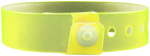 "A Vinyl 3/4"" x 10"" L-Shape Snapped Solid Edge Glow Yellow wristband"