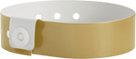 "A Vinyl 3/4"" x 10"" L-Shape Snapped Solid Gold wristband"