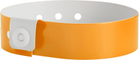 "A Vinyl 3/4"" x 10"" L-Shape Snapped Solid Neon Orange wristband"