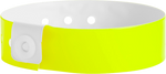 "A Vinyl 3/4"" x 10"" L-Shape Snapped Solid Neon Yellow wristband"