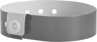 "A Vinyl 3/4"" x 10"" L-Shape Snapped Solid Silver wristband"