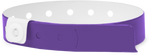 "A Vinyl 1/2"" x 11 1/2"" 1-Stub Snapped Solid Purple wristband"