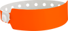 "A Vinyl 1"" x 10"" Wide Face Snapped Solid Neon Orange wristband"