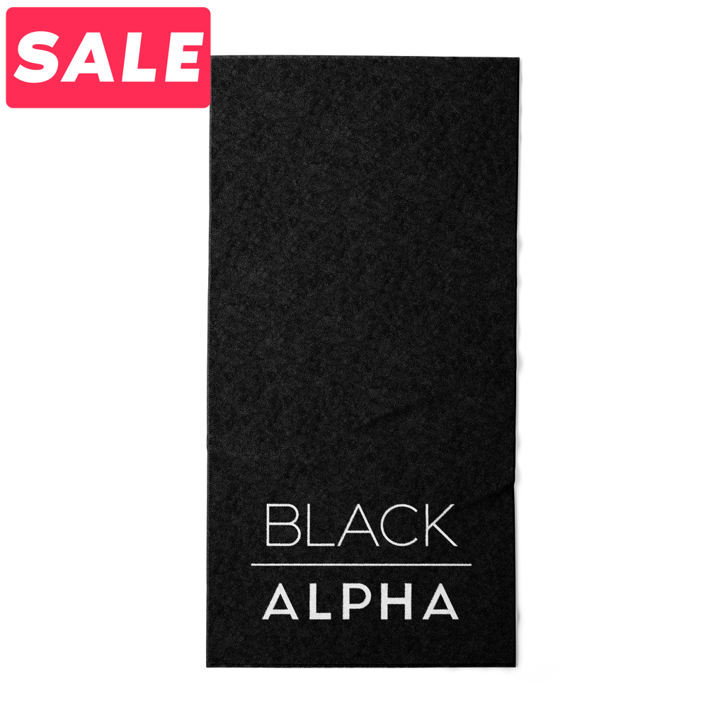 Sport Towel - Black - Black Alpha Supplements