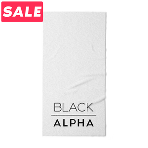 Sport Towel - White - Black Alpha Supplements