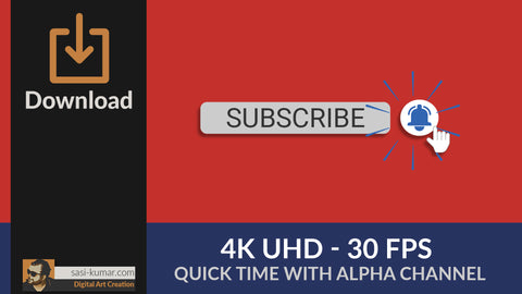 YouTube Bell Icon Animation - 4K UHD - 30FPS with Alpha Channel