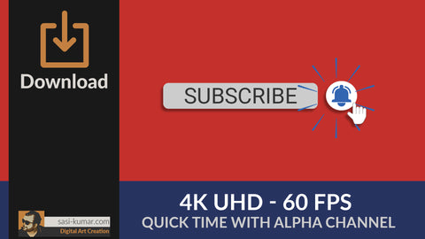 YouTube Bell Icon Animation - 4K UHD - 60FPS with Alpha Channel
