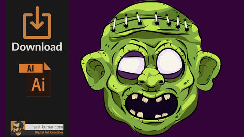 Vector Zombie Face Download | Download AI file