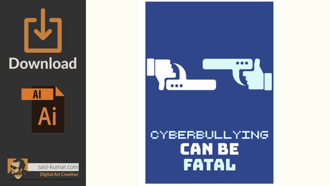 Vector Poster | Cyberbullying | Digital Download