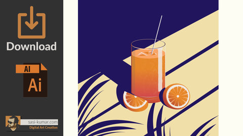 Cocktail Vector Artwork | Digital File Download