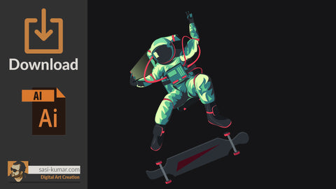 Vector Astronaut Artwork