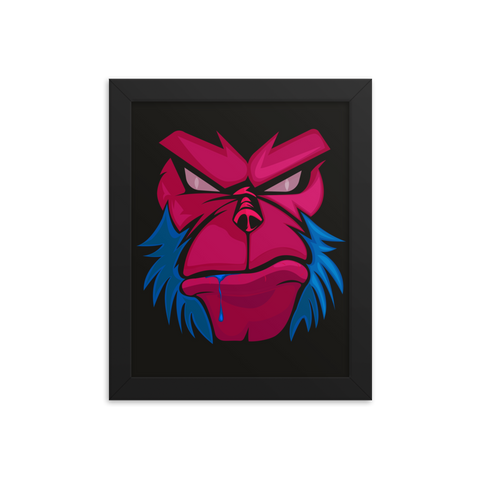 Angry Monkey Framed poster