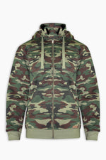 Load image into Gallery viewer, Camo Zipper Hoodies