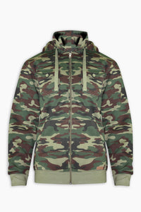 Camo Zipper Hoodies