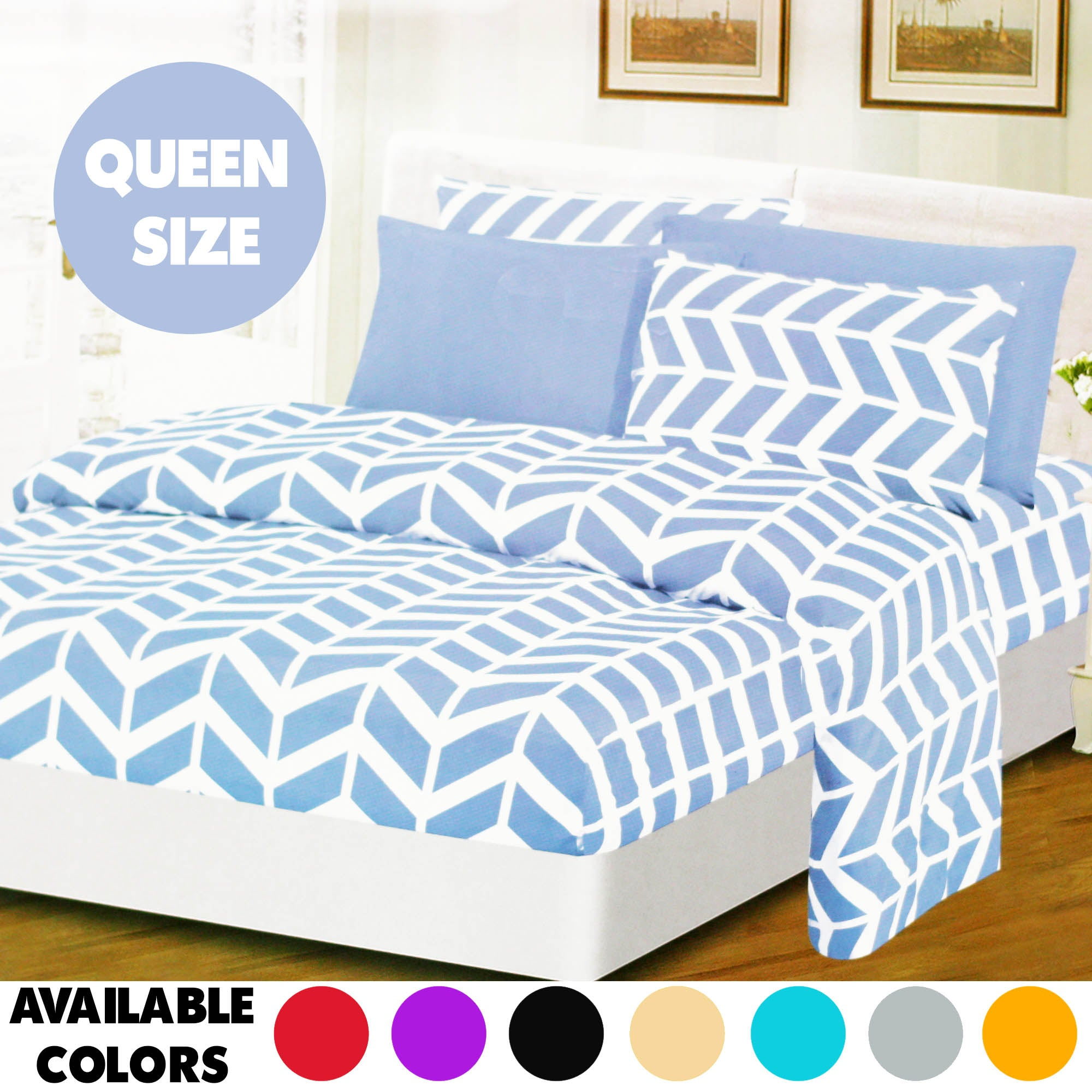 Queen Size Beed Sheet (6 Pcs)
