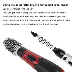 50% OFF-7 in 1 Ceramic Hair Dryer Rotating Curling Iron Brush(Buy 1 get 6 brush free)
