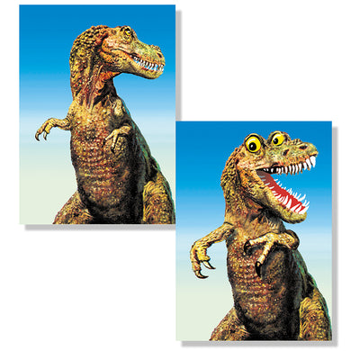 Cartes D'Art T-Rex Googly Eyes 3D Postcard