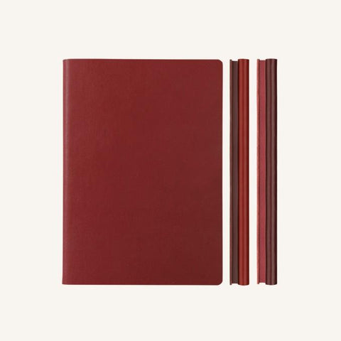 Daycraft Signature Duo Notebook - Red / Burgundy