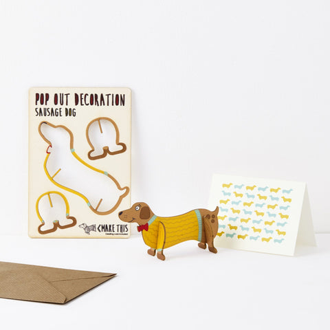 The Pop Out Card Company Pop Out Sausage Dog Card