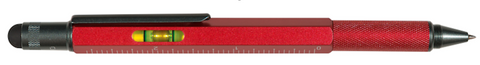 MEMMO MEMMO Level Stylus Tool Pen, Red