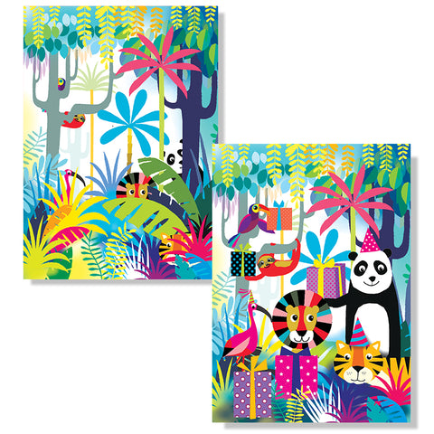 Cartes D'Art Jungle 3D Postcard