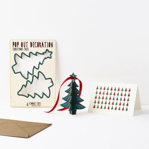 Pop Out Hanging Christmas Tree Card