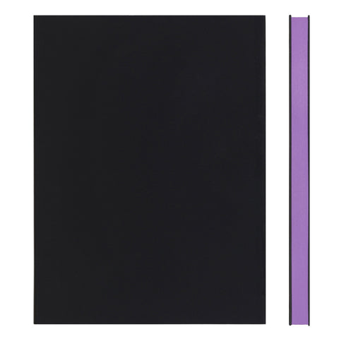 MEMMO FP Soft Touch Cover Lined Notebook A5, Black/Purple