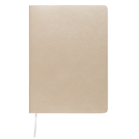 MEMMO Luxe Bonded Leather Lined Notebook A6, Silver