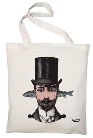 Gangzai Design Organic Tote Bag - Aristo Fish