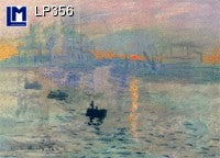 Lenticular Animation Postcard, Monet Impression, Sunrise