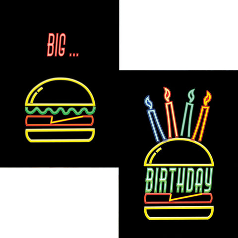 Birthday Burger 3D Postcard
