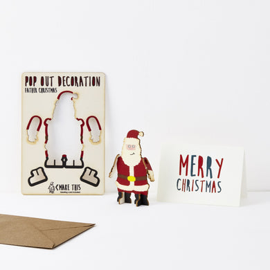 Pop Out Father Christmas Card