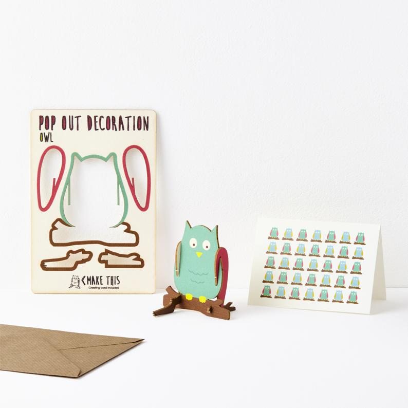 The Pop Out Card Company Pop Out Owl Card