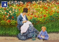 Lenticular Animation Postcard, Camille Monet in  Artist's Garden