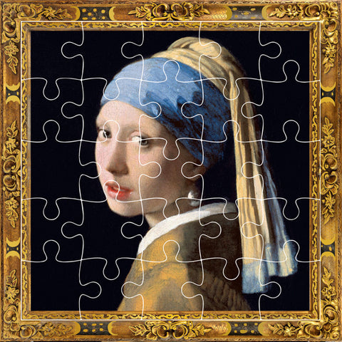 Girl With A Pearl Earring Puzzle Card
