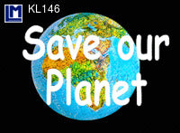 "Lenticular 3D Postcard, ""Save Our Planet"""