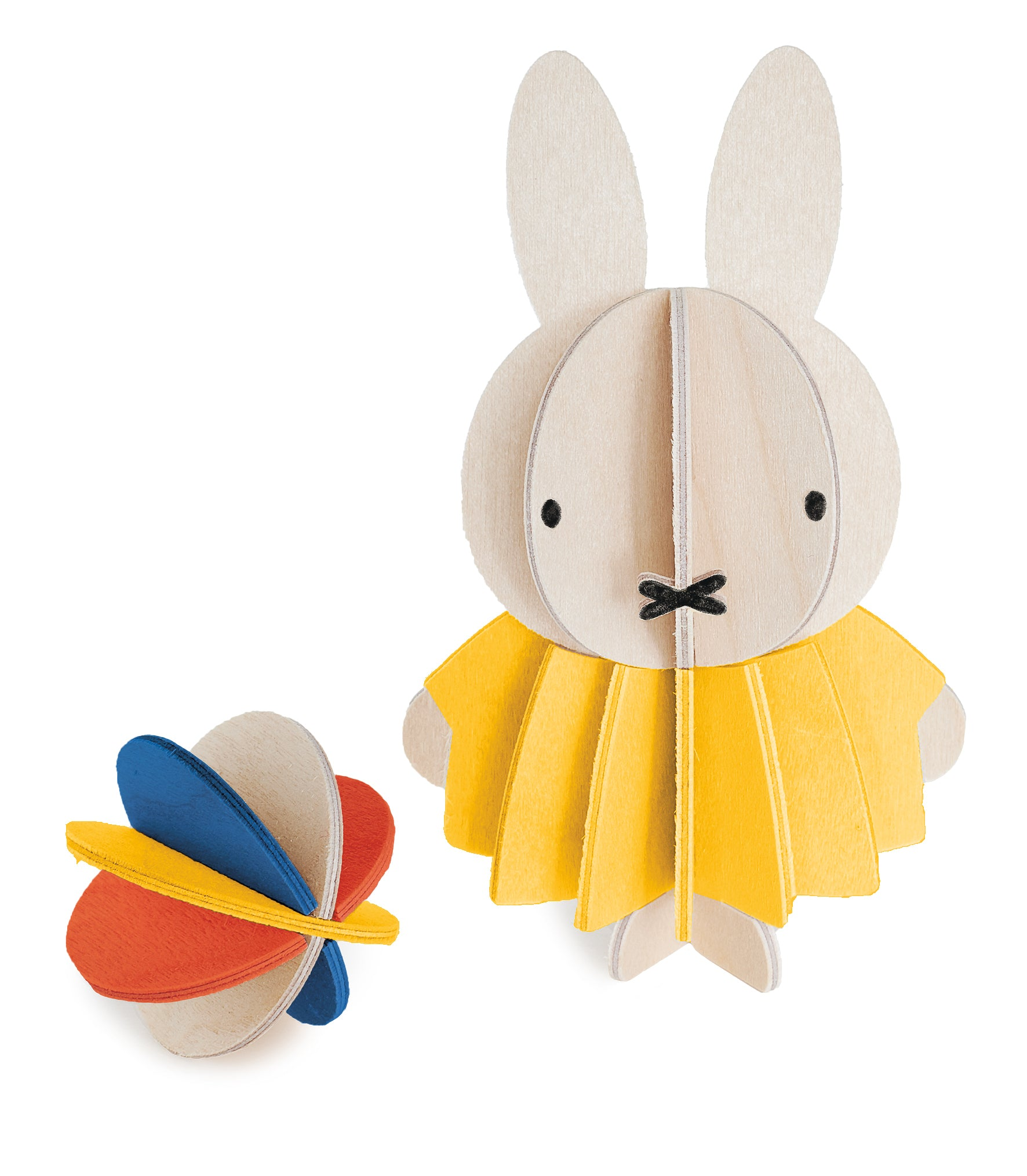 L Miffy & Ball, Wood (10cm)