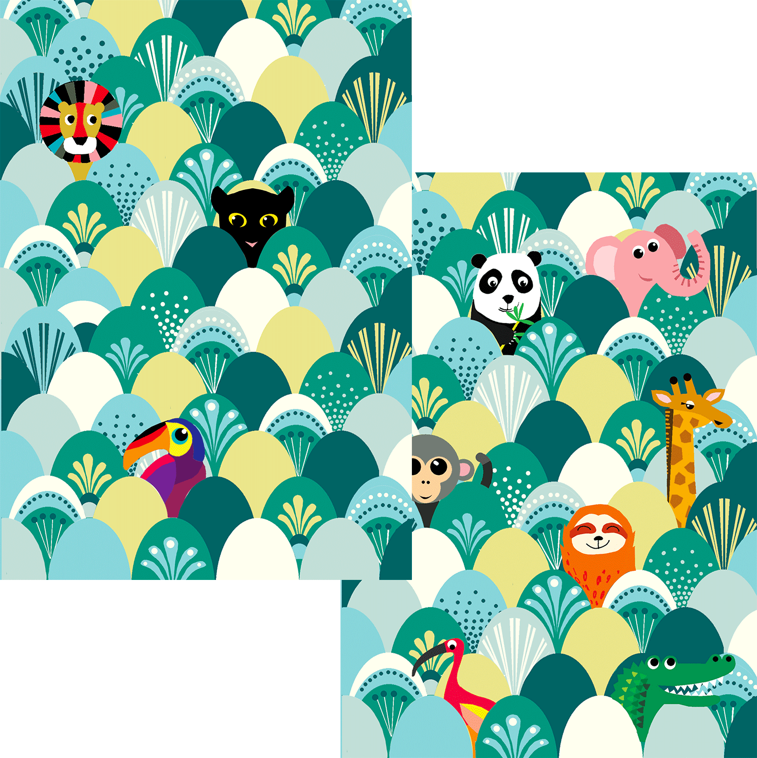 Jungle Animals 3D Postcard