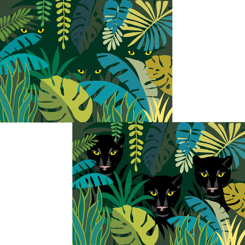 Jungle Cats 3D Postcard