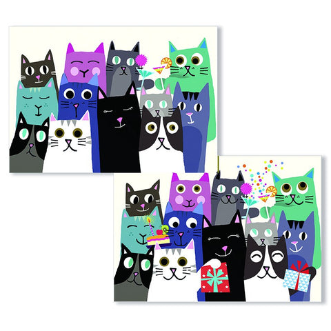 Cartes D'Art Birthday Cats 3D Postcard
