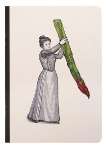 Miss Asparagus Notebook (A6, Lined)