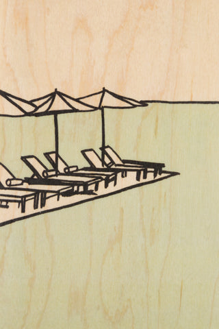 Deck Chair Postcard