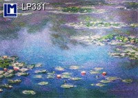 Lenticular Animation Postcard, Monet Water Lilies