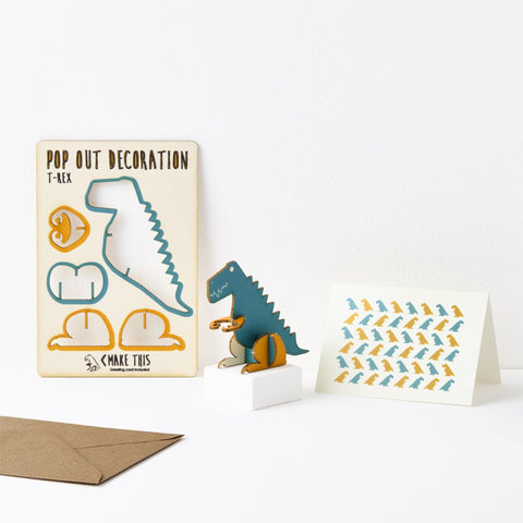 The Pop Out Card Company Pop Out T-Rex Card