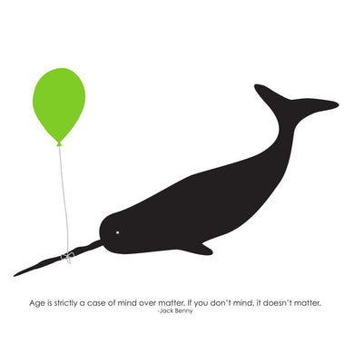 Heather Alstead Design Narwhal Age Card